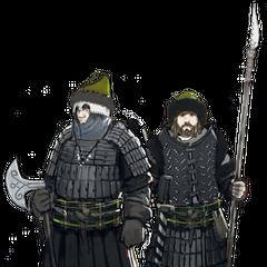 Концепт-арт воинов клана
