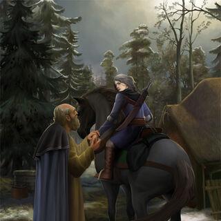 Высогота и Цири, иллюстрация Steamey