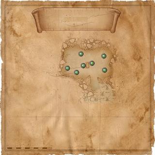 Карта пещеры с местонахождением эхинопсов