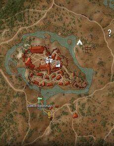 Замок вроницы на карте