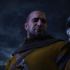 Гюнтер с черепом Ольгерда