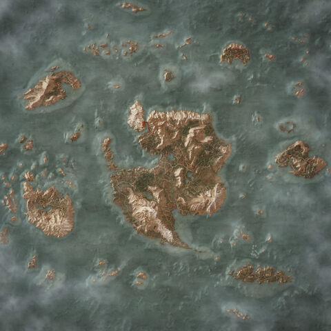 Игровая карта архипелага