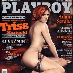 Трисс на обложке журнала Playboy