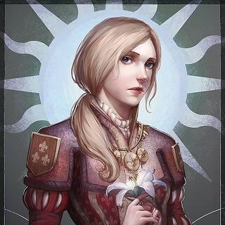Взрослая Анаис на троне Темерии, арт от <a rel=