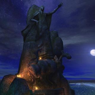 Статуя Владычицы на Берегу Озера в Темноводье