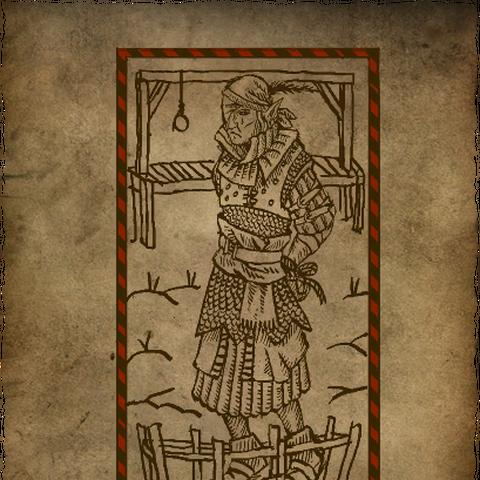 Карикатурный плакат о поимке Иорвета