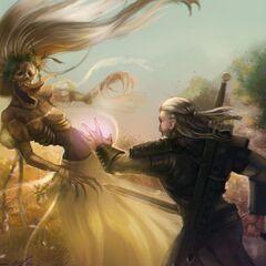Сражение с полуденницей, рисунок <a rel=