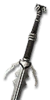 Мастерский серебряный меч ШКВ3