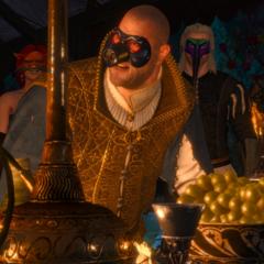 Дийстра в маске хряка на балу Вегельбудов