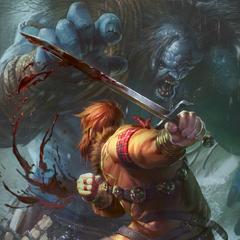 Хьяльмар сражается с Ледяным великаном, <i><a href=