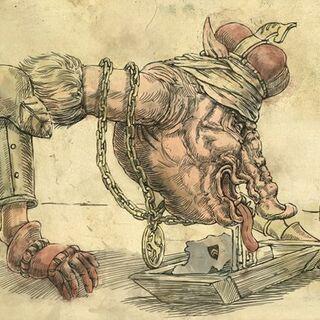 Карикатура на Хенсельта