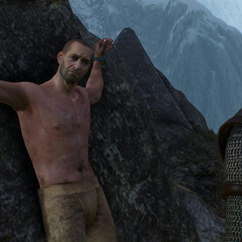 Йорг, прикованный к скале