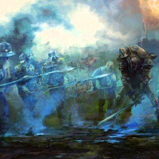 Сражение с драугиром, официальный арт