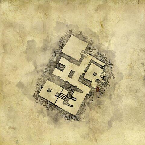 Карта руин лечебницы, первый уровень