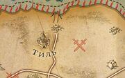 Тиль на карте
