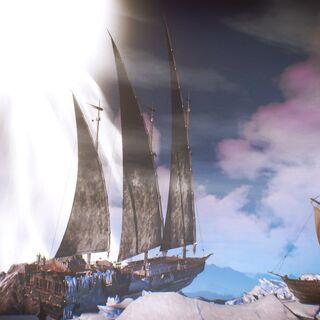 Нагльфар во льдах возле <a href=