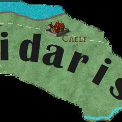 Предполагаемая карта Цидариса