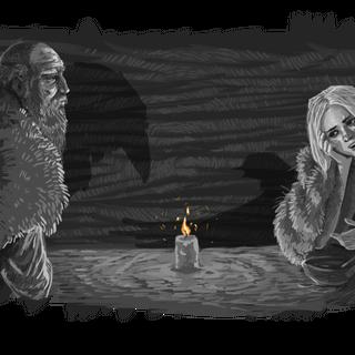 Высогота и Цири, иллюстрация z-zombiecat