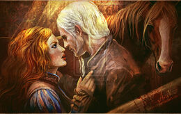 Geralt and triss in kaer1 morhen by justanor-d7bmfnv