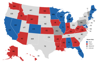 Vote by State Delegation