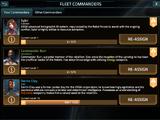 Fleet Commanders