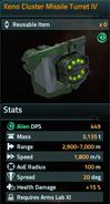 Xeno Cluster Missile Turret IV
