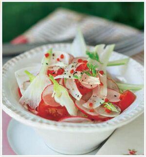 Tomato fennel salad