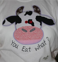 Tshirt - cow you eat what