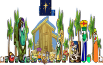 VeggieTales The Stable that Bob Built Nativity Scene Christmas Pageant Morn Savior Born Manger