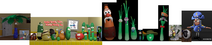 VeggieTales Happy 25th Anniversary VeggieTales! 1993 2018 II Palmy the Tree Cap'n Crunch 3D Model Adventure