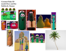 Coconut Palm 3D model Dave and the Nebbie K. Nezzer