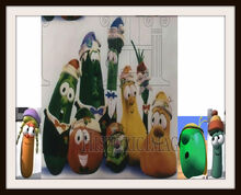Laura Carrot VeggieTales Christmas Spectacular Tom Grape Junior Asparagus Frames