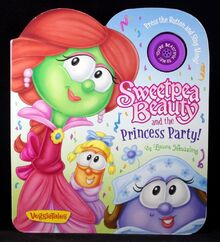 VeggieTales Sweetpea Beauty and the Princess Party! Book Music Push Button NEW