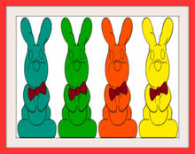 Chocolate Bunnies Colorful 4 Frames