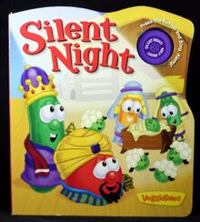 VeggieTales Silent Night Board Book Music Push Button NEW