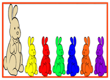 Chocolate Bunnies Colorful Seven Metal Frame