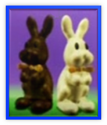 Chocolate Bunny Vanilla Bunny Metal Frame
