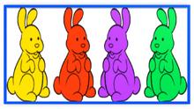 Chocolate Bunnies Colorful Four Metal Frame