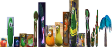 Seventeen VeggieTales Dave and the King Xerxes Mr. Nezzer Palmy the Tree
