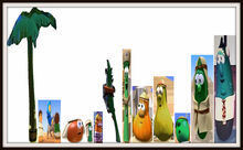 Christmas VeggieTales Palm Trees Plants The Stable That Bob Built Nativity Museum Matte Frames