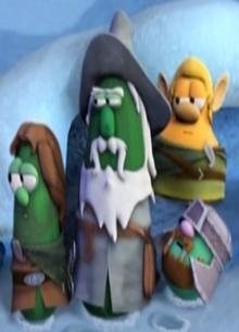 Larry the Cucumber as himself and Ear-a-Corn Mr. Nezzer as Randolf Pa Grape as Grumpy Jimmy Gourd as Leg-O-Lamb