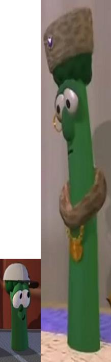 Junior Asparagus As Shack Meshach & Archibald Asparagus As King Saul