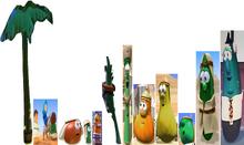 Christmas VeggieTales Palm Trees Plants The Stable That Bob Built Nativity