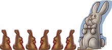 Chocolate Bunnies And Gray Bunny