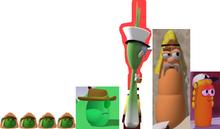 Peas Israelites Tom Grape Brown Hat Grandpa George Scallion Blink Scooter Carrot As Israelite & Laura Carrot As Delivery Girl Model
