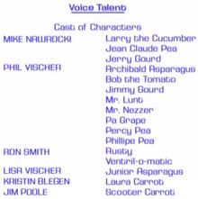 Voice Talent Cast of Characters VeggieTales
