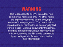 2005 FBI Warning