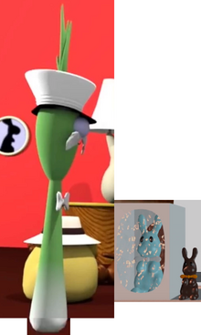 4 VeggieTales Inspiration Animations Grandpa George Scallion Blink As Himself Mr. Lunt As Herself YouTube Poop VeggieTales 12 Stories in One The Blue Coney Box The Standard Chocolate Bunny Modeling