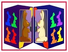 Chocolate Bunny Box & Vanilla Box Metal Frame