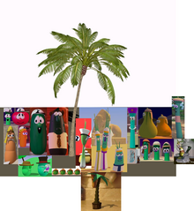 30 VeggieTales Inspiration Animation & YouTube Poop VeggieTales 12 Stories In One And Palm Tree 3D Model Blend